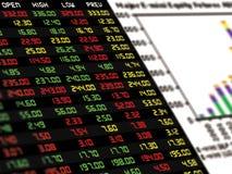 Дисплей ежедневной фондовой биржи иллюстрация вектора