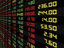 Дисплей ежедневной фондовой биржи бесплатная иллюстрация