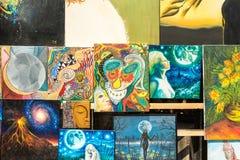 Дисплей картин абстрактного искусства Стоковое Изображение RF
