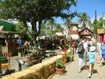 Дисплей машинного оборудования земледелия фермы, Los Angeles County справедливое, Калифорния, США стоковое фото