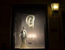 Дисплей окна на главе семьи Bergdorf в NYC Стоковые Изображения