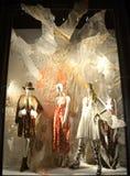 Дисплей окна на главе семьи Bergdorf, NYC Стоковая Фотография