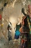 Дисплей окна на главе семьи Bergdorf, NYC Стоковое Изображение RF