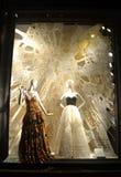 Дисплей окна на главе семьи Bergdorf, NYC Стоковая Фотография RF