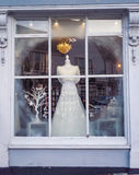 Дисплей платья свадьбы зимы Стоковые Изображения