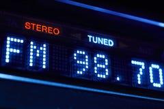 Дисплей радио тюнера FM Стерео цифровая настроенная станция частоты Стоковое фото RF