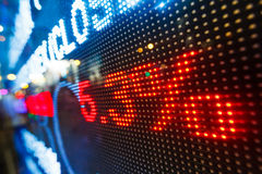 Дисплей рыночной цены фондовой биржи Стоковое фото RF