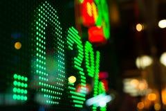 Дисплей рыночной цены фондовой биржи стоковая фотография rf