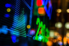 Дисплей рыночной цены фондовой биржи стоковые изображения rf