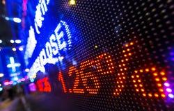 Дисплей снижения цены фондовой биржи Стоковые Фото