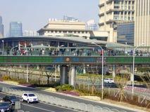 Дисплей температуры lujiazui Шанхая Стоковые Фото