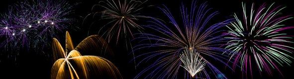 Дисплей фейерверков Стоковая Фотография RF