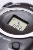Дисплей LCD на цифровом секундомере Стоковые Изображения RF