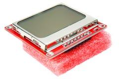 Дисплей LCD для мобильного телефона на белой предпосылке Стоковое Изображение