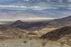 Дистантная пыльная буря - национальный парк Death Valley, Калифорния Стоковое Фото