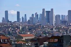 Дистантный взгляд небоскребов в Стамбуле Стоковое фото RF