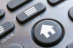 Дистанционное управление с круглой домашней кнопкой Стоковая Фотография RF