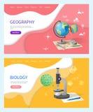 Дисциплина биологии в школе, вопросе землеведения иллюстрация вектора
