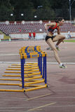 Дисциплина атлетики - 100 барьеров метров Стоковая Фотография RF