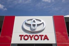 Дилерские полномочия Тойота с логотипом Стоковое Изображение