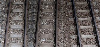 Длина железнодорожного пути стоковое изображение