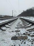 Длина железнодорожного пути стоковая фотография rf