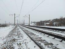 Длина железнодорожного пути стоковое фото rf