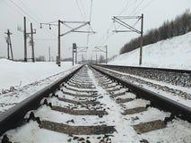 Длина железнодорожного пути стоковая фотография