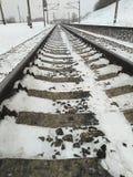 Длина железнодорожного пути стоковые изображения
