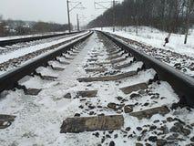 Длина железнодорожного пути стоковое изображение rf