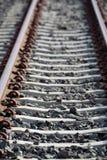 Длина железнодорожного пути стоковое фото