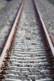 Длина поезда железнодорожного пути стоковые фотографии rf