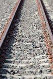 Длина поезда железнодорожного пути стоковая фотография rf
