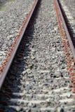 Длина поезда станции железнодорожного пути стоковая фотография rf