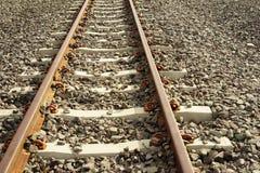 Длина поезда станции железнодорожного пути стоковое фото rf