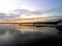 Длинная прогулка на пристани Стоковое Изображение RF