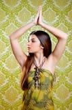 длиннее азиатских волос девушки танцы брюнет индийское Стоковые Изображения