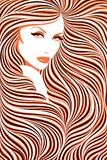 длиннее девушки с волосами Стоковое фото RF