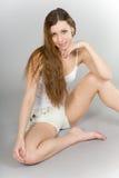 длиннее девушки с волосами Стоковое Изображение RF