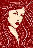длиннее девушки с волосами Стоковые Изображения RF