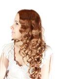 длиннее девушки с волосами стоковое фото