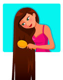 Длинние волосы Стоковое Изображение