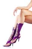 Длинние ноги женщины Стоковые Фото