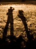 длинние тени людей Стоковые Фото