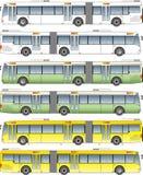 Длинний вектор шины города иллюстрация вектора