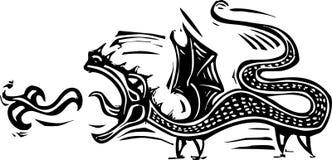 Длинний дракон иллюстрация штока