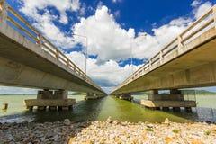 Длинний конкретный мост на yo Таиланде Koh Стоковые Изображения