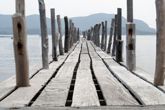 Длинний мост в море Стоковые Изображения