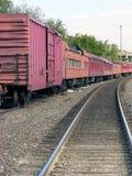 длинний поезд runnin Стоковые Фотографии RF