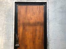 Длинное форточки деревянное коричневое Стоковое Изображение RF